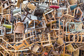 Stack of chairs — Stock Photo