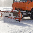 Stock Photo: Snowplow at work