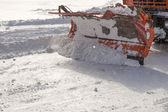 Snowplow at work — Stock fotografie