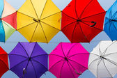 Umbrella background — Stock Photo