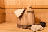 Sauna equipment — Stock Photo