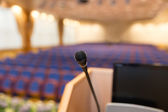 Rostrum in conference hall — Stock Photo