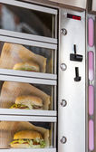 AMSTERDAM, NETHERLANDS - MARCH 23, 2014: Burger vending machine, — Stock Photo