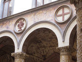 Cloister of the Palazzo Vecchio — Stock Photo