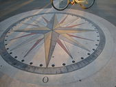 On the compass rose — Stock Photo