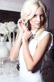 Beautiful girl with jewellery — Stock Photo