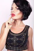 Beautiful girl with black hair — Stock Photo