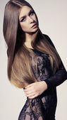 Young girl with long hair — Stock Photo