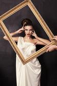 Beautiful girl in greek style — Stock Photo