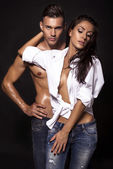 Photo of sexy impassioned couple — Stock Photo