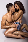 Sexy beautiful couple — Stok fotoğraf