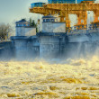 Dam on the Volga River — Stock Photo