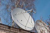 Satellite TV antenna, — Stock Photo