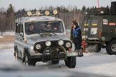 Zima, wyścigi — Zdjęcie stockowe