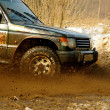 Auto racing off road — Stock Photo