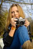 Blonde vrouw — Stockfoto