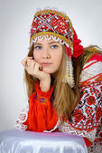 Girl in national costume — Foto de Stock