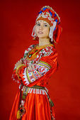 Girl in national costume — Stock Photo