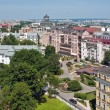 Panoramic Kiev with homes of many — Stock Photo