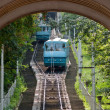 Stock Photo: Two Kiev funicular wagons approach each other
