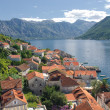 Perast city and Kotor bay, Montenegro — Stockfoto