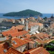 Dubrovnik panorama with Lokrum island — Stock Photo