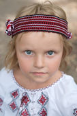The portrait of a girl in ukrainian costume — Stock Photo