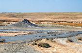 Mud pool flow — Stock Photo