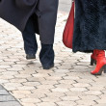 Couple walking on the street — Stock Photo #36392025