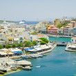 Fishing harbor at Agios Nikolaos, Crete, Greece — Stock Photo