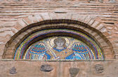 Tympanum with ancient mosaic — Stock Photo