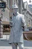 身份不明的街头艺人 mime — 图库照片