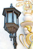 Old lantern on the wall — Stock Photo
