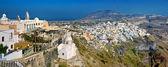 панорама 3 фиры в санторини, греция — Стоковое фото