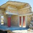 Knossos palace room, Crete, Greece — Stock Photo