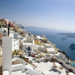 Fira panorama with caldera view, Santorini, Greece — Stock Photo