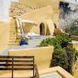 Yellow Santorini terrace 2, Greece — Stock Photo