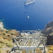 Santorini cable car connecting the port with Fira on island Santorini, Greece — Stock Photo #36406023