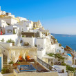 Fira panorama, Santorini, Greece — Photo
