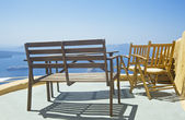 Chairs and table on the terrace — Stock Photo