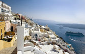 Fira panorama with caldera view, Santorini, Greece — 图库照片