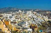 フィラ、サントリーニ島、ギリシャでパノラマ — ストック写真
