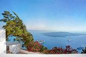 Caldera view at Santorini island Greece at the evening — Stock Photo
