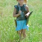 Warrior girl — Stock Photo