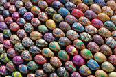 Ukrainian easter eggs galore — Zdjęcie stockowe