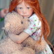Girl with bear — Stockfoto #36670601