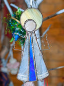 Christmas-tree decoration an angel with nimbus — ストック写真