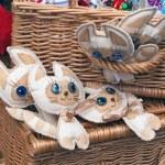 Handmade soft kittens — Stock Photo