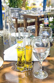 The still life of Greek taverna — Stock Photo