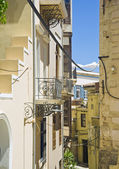 The narrow street of Chania — Stock Photo